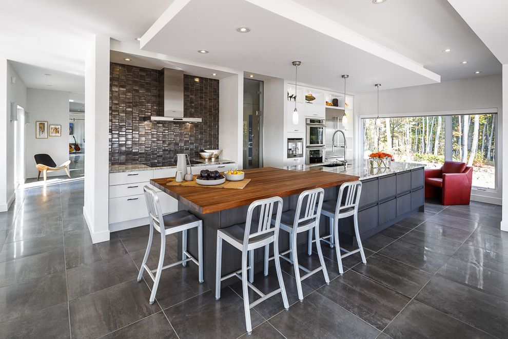 Granite Run Gmc for a Contemporary Kitchen with a Modern Kitchen and Ottawa Home in the Hills   Modern Kitchen & Bath   Astro Design by Astro Design Centre