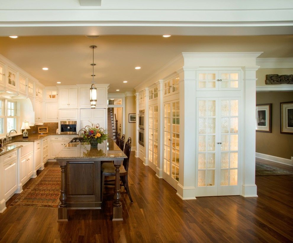 Granite Run Gmc for a Traditional Kitchen with a Island Lighting and Robinson's Bay Residence by Murphy & Co. Design