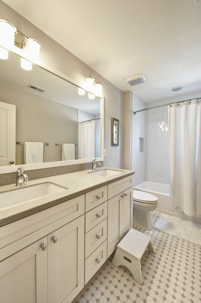 Great Dane Harlequin for a Traditional Bathroom with a Kitchen Hardware and Kids Bath by Echelon Custom Homes