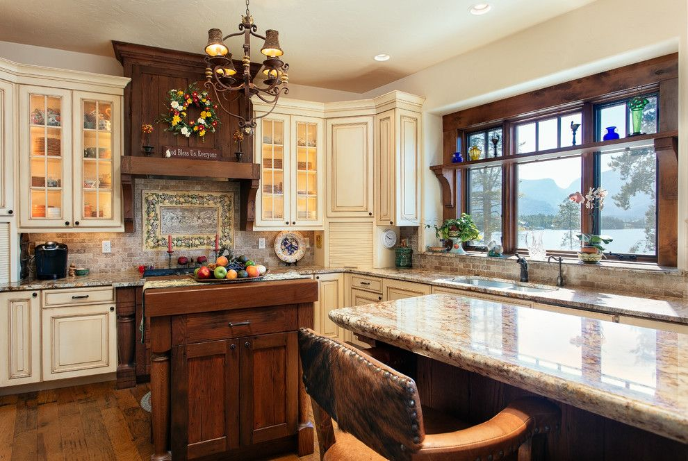 Great Dane Harlequin for a Traditional Kitchen with a Granite and Co Homes by Dane Cronin Photography
