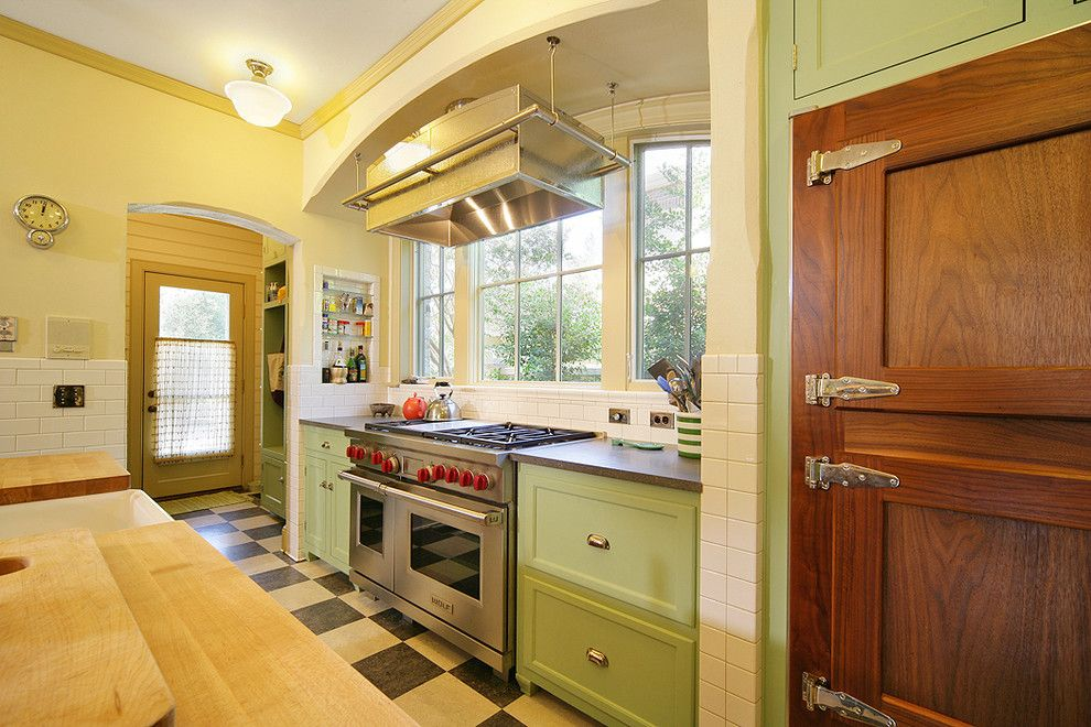 Great Dane Harlequin for a Traditional Kitchen with a Linoleum and Princeton House by Domiteaux + Baggett Architects, Pllc