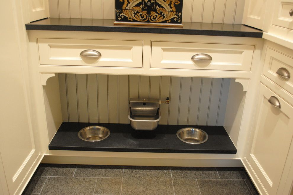 Great Dane Harlequin for a Traditional Laundry Room with a Chandelier and Old York Rd. Kitchen Renovation by Greenleaf Construction