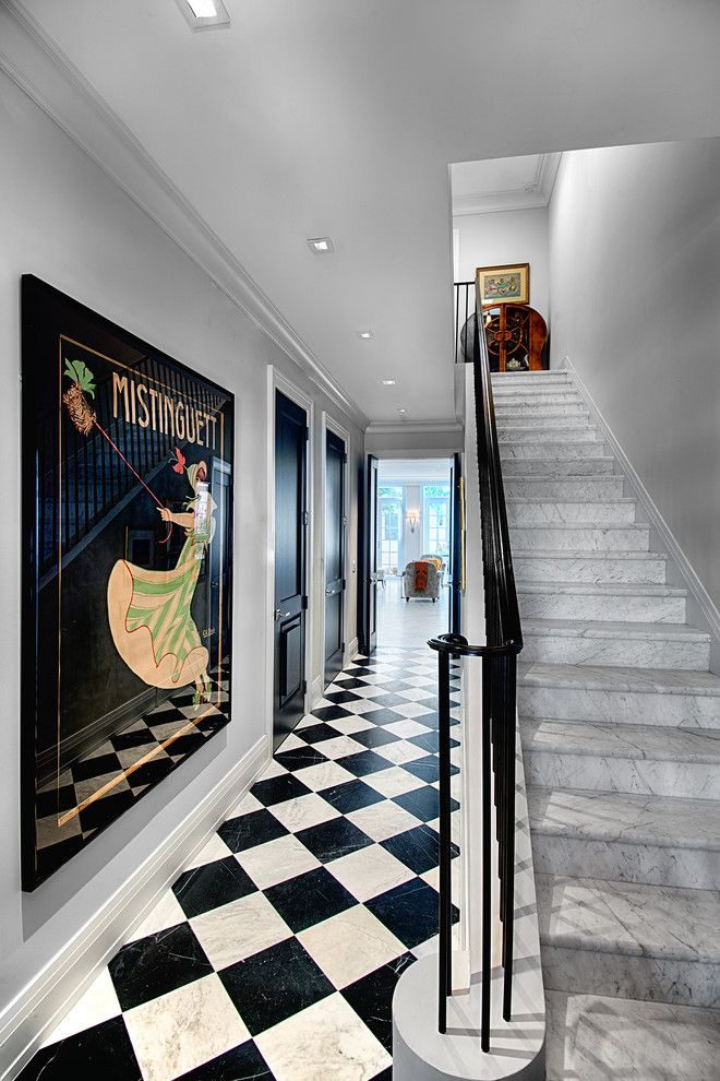 Great Dane Harlequin for a Victorian Staircase with a Harlequin Floor and Valencia Townhouses by Torre Construction & Development