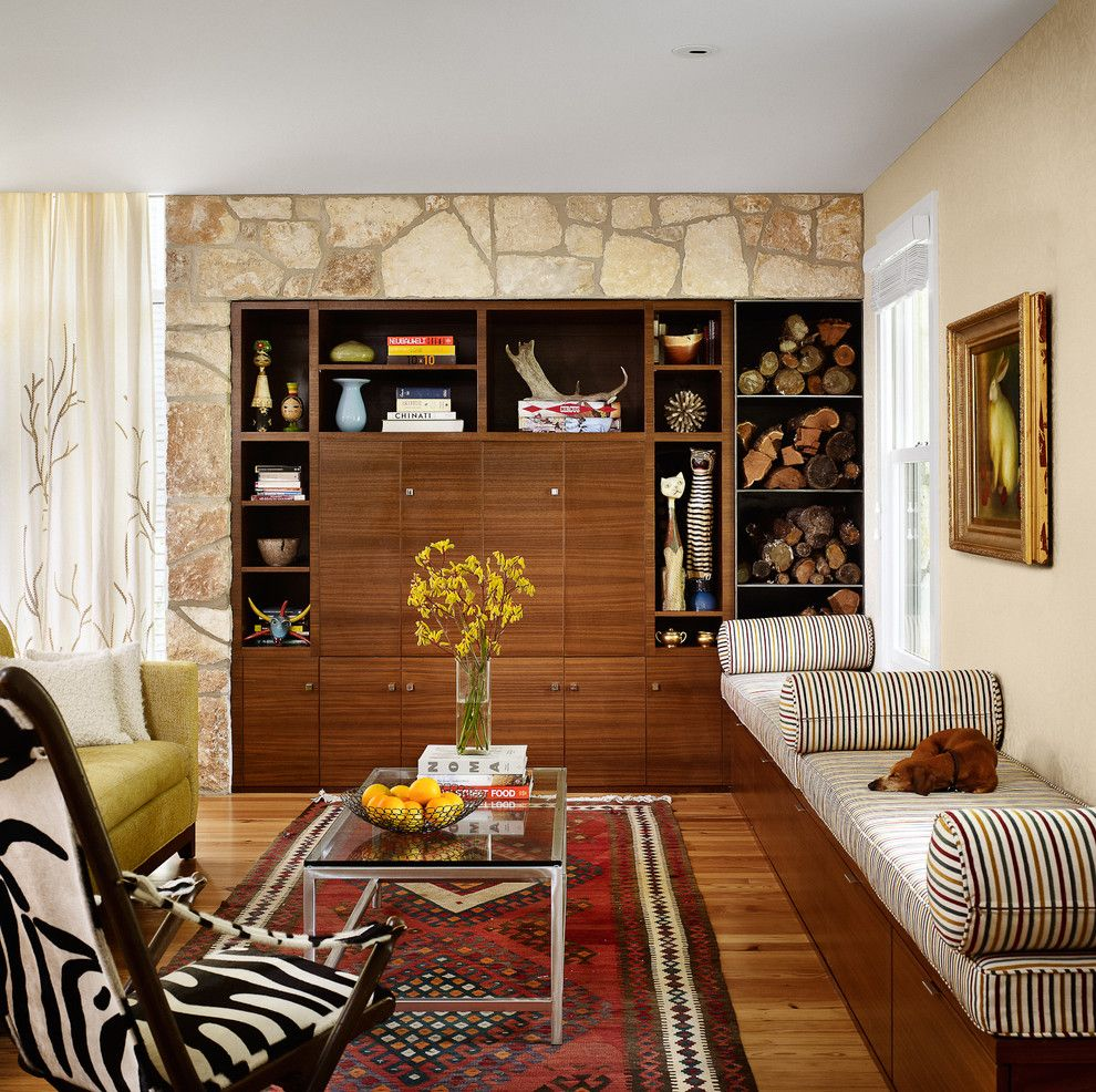 Great Neck Nissan for a Midcentury Living Room with a Area Rug and Living Room by Chioco Design