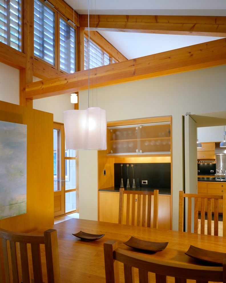 Great Neck Nissan for a Modern Dining Room with a Artemide and House on the Neck by Eric Reinholdt, Architect
