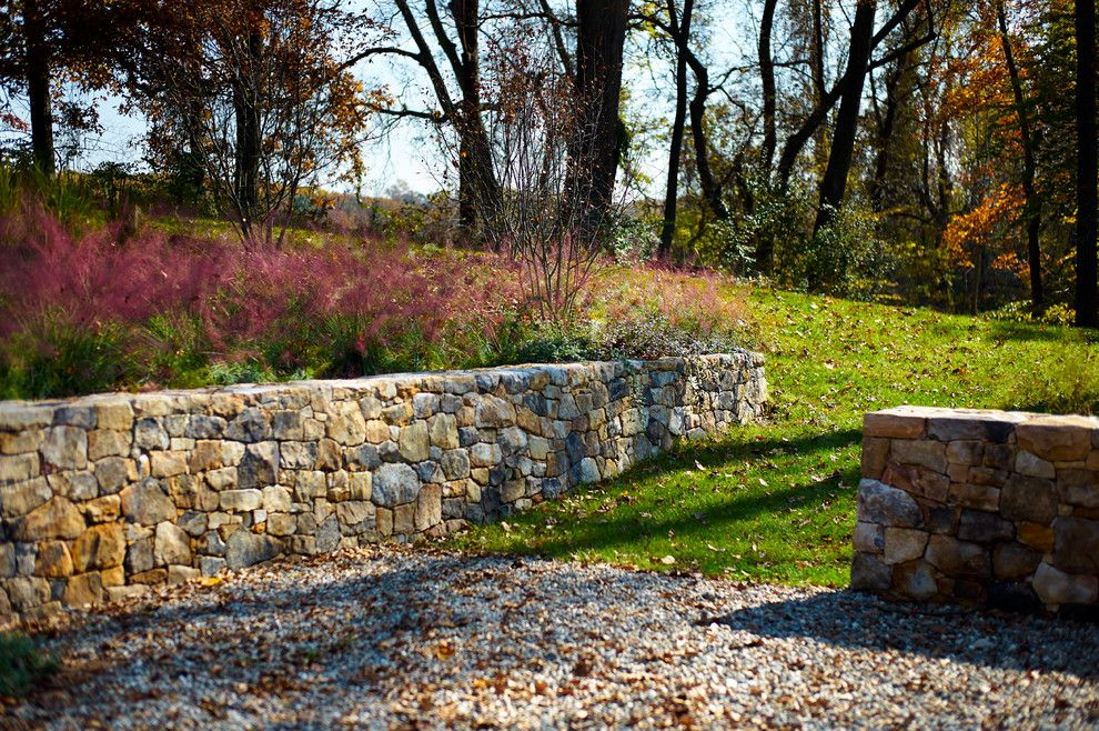 Great Wall Edmond Ok for a Farmhouse Landscape with a Purple Flowers and Bragg Hill by Moger Mehrhof Architects