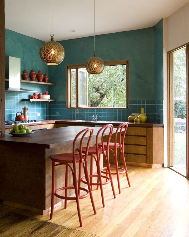 Great Wall Edmond Ok for a Transitional Kitchen with a Open Shelving and Camilla Molders Design by Camilla Molders Design