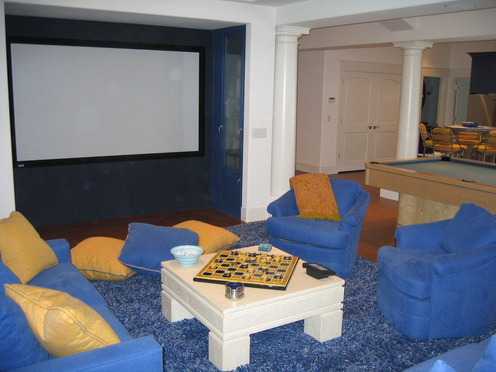 Greek Isles Charlotte for a Mediterranean Home Theater with a Entertainment Area and Orono Mediterranean by Ramsey Engler Ltd