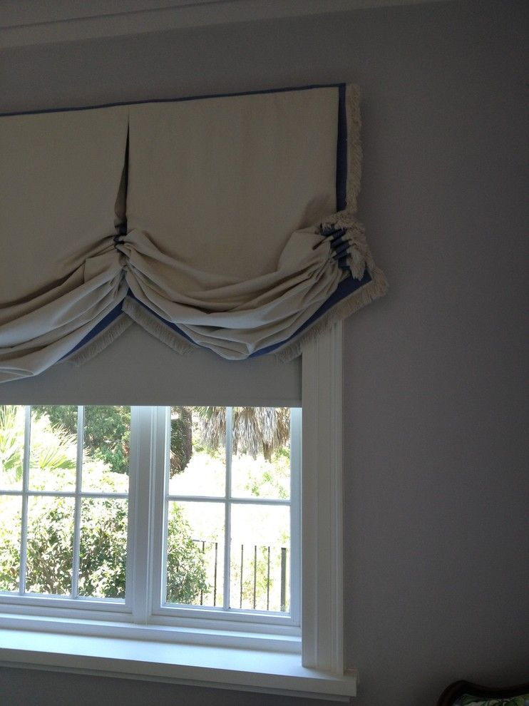 Greek Isles Charlotte for a Traditional Bedroom with a Isle of Palms and Blackout Motorized Shades by All About Windows Inc