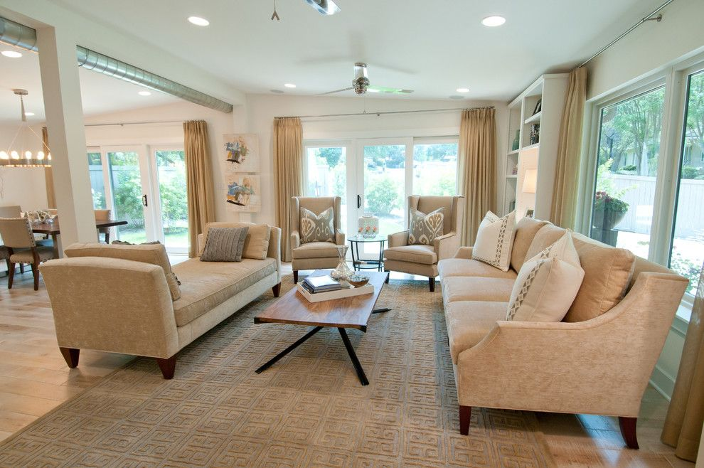 Greek Revival Homes for a Contemporary Family Room with a Natural Wood and Tarrytown Remodel by Butter Lutz Interiors, Llc