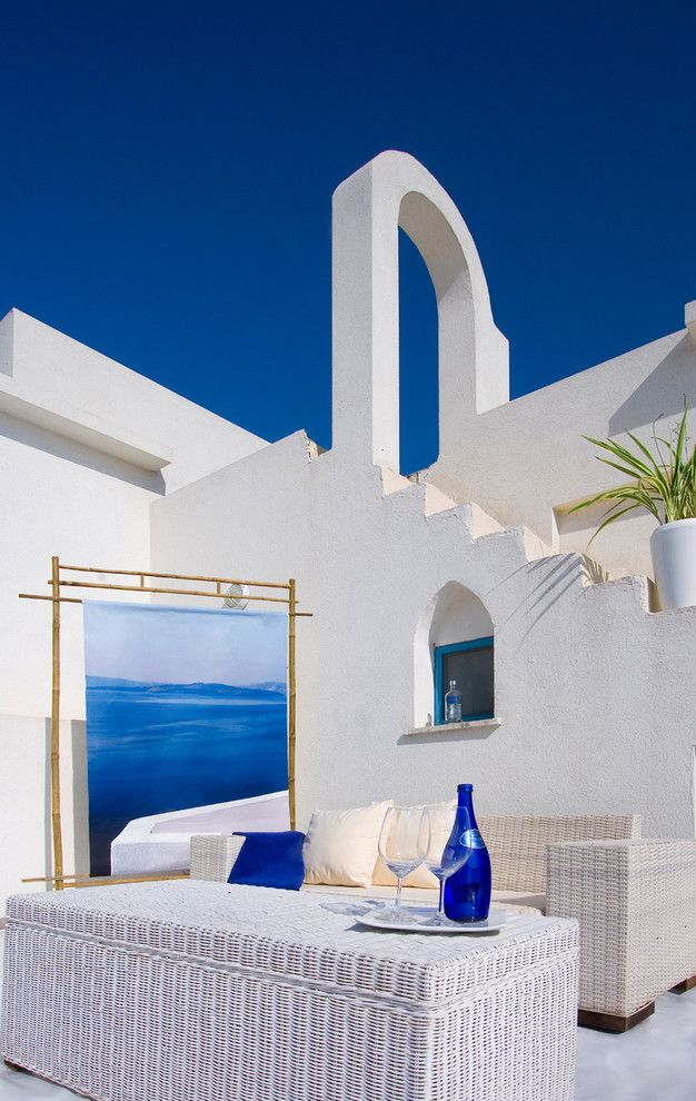 Greek Revival Homes for a Mediterranean Patio with a Greece and Exterior by Elad Gonen