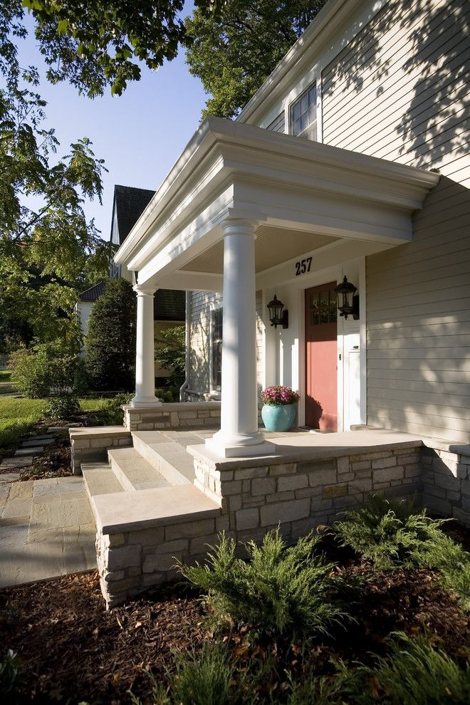 Greek Revival Homes for a Traditional Entry with a Traditional and Greek Revival Remodel   Entry by Trehus Architects+Interior Designers+Builders