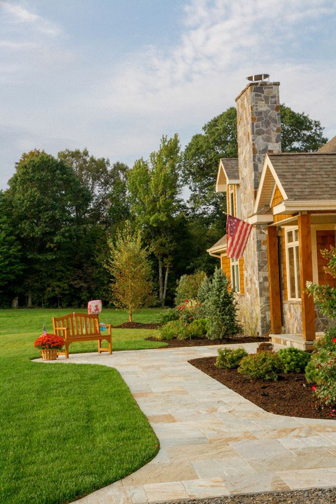 Greenleaf Landscaping for a Craftsman Patio with a Landscape Design and Paver Patios, Stone Patios, Retaining Walls | Albany, Troy, Clifton Park, Latham by Pearl Landscaping & Patio Company