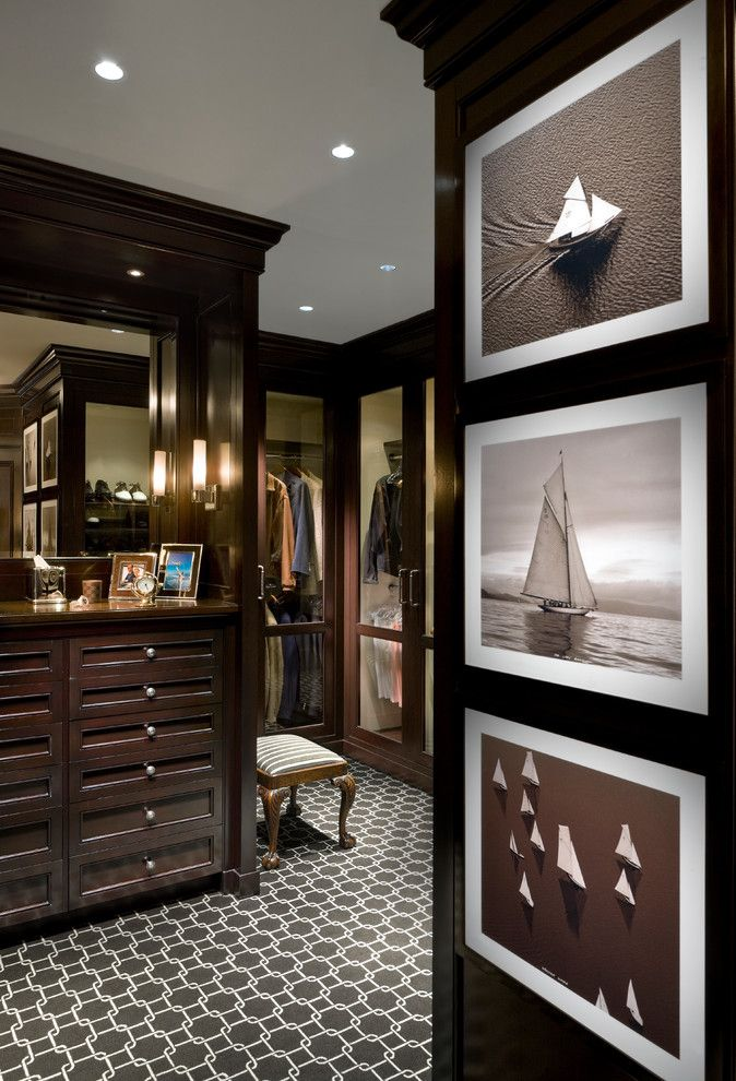 Greystone Country Club for a Traditional Closet with a Stool and Traditional Closet by Millerwrightarchitects.com