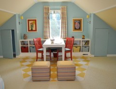 Grote Lighting for a Eclectic Kids with a Cubbies and Girl's Bedroom / Playroom by Lynn Ronan Design