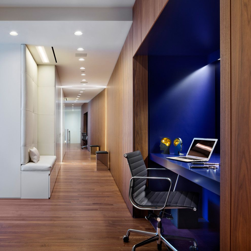 Gsh25jsdss for a Contemporary Home Office with a Built in Desk in Hallway and 25 Columbus Circle by Joel Sanders Architect