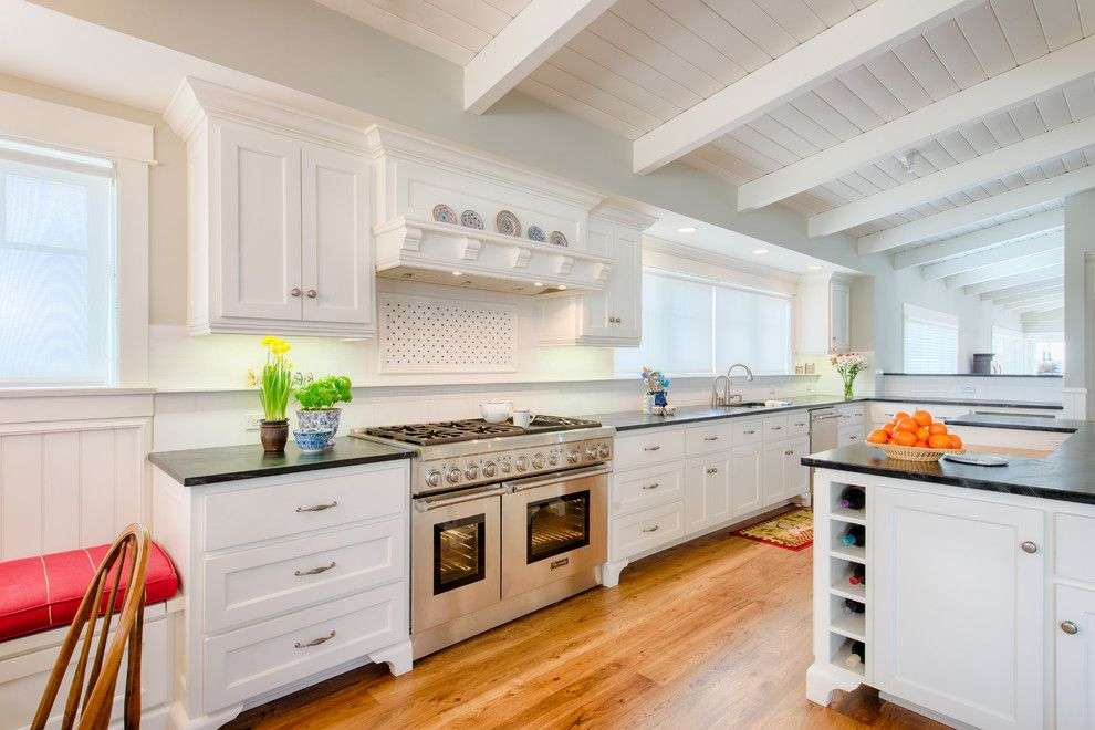 Gsh25jsdss for a Traditional Kitchen with a Red Cushion and 25th Street Kitchen by Jennifer Allison Design