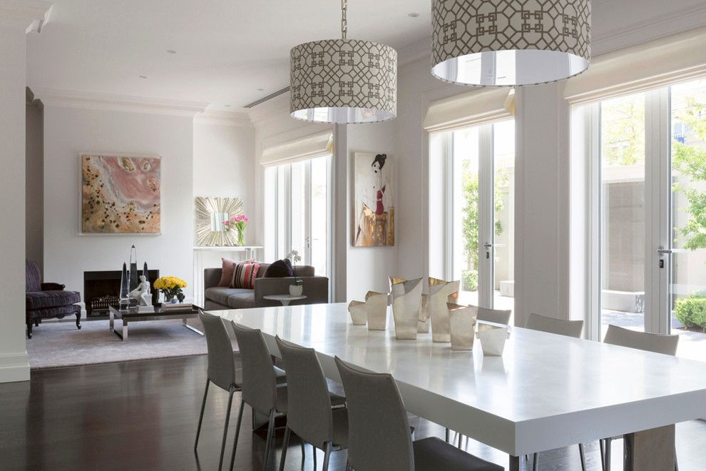 Gus From Cinderella for a Contemporary Dining Room with a Dirty Pink and Toorak Residence by Massimo Interiors