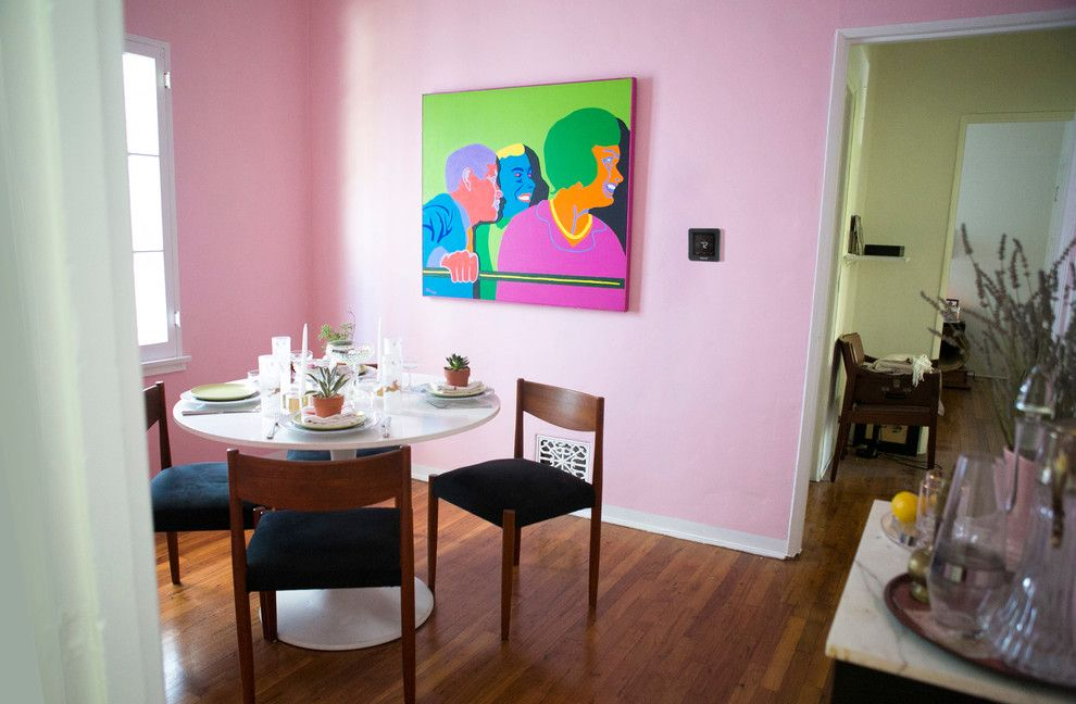 Gustav Klimt Artwork for a Contemporary Dining Room with a Home Technology and Honeywell Home by Honeywell Home