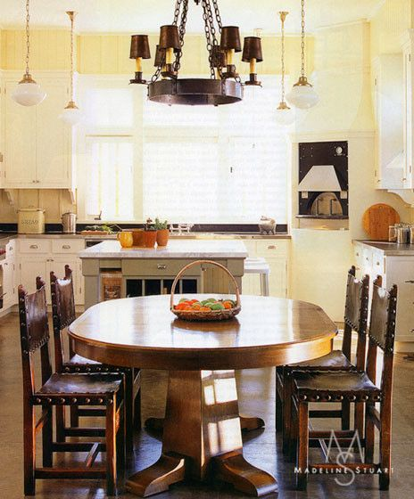 Gustav Stickley for a  Dining Room with a  and Santa Barbara Ranch by Madeline Stuart