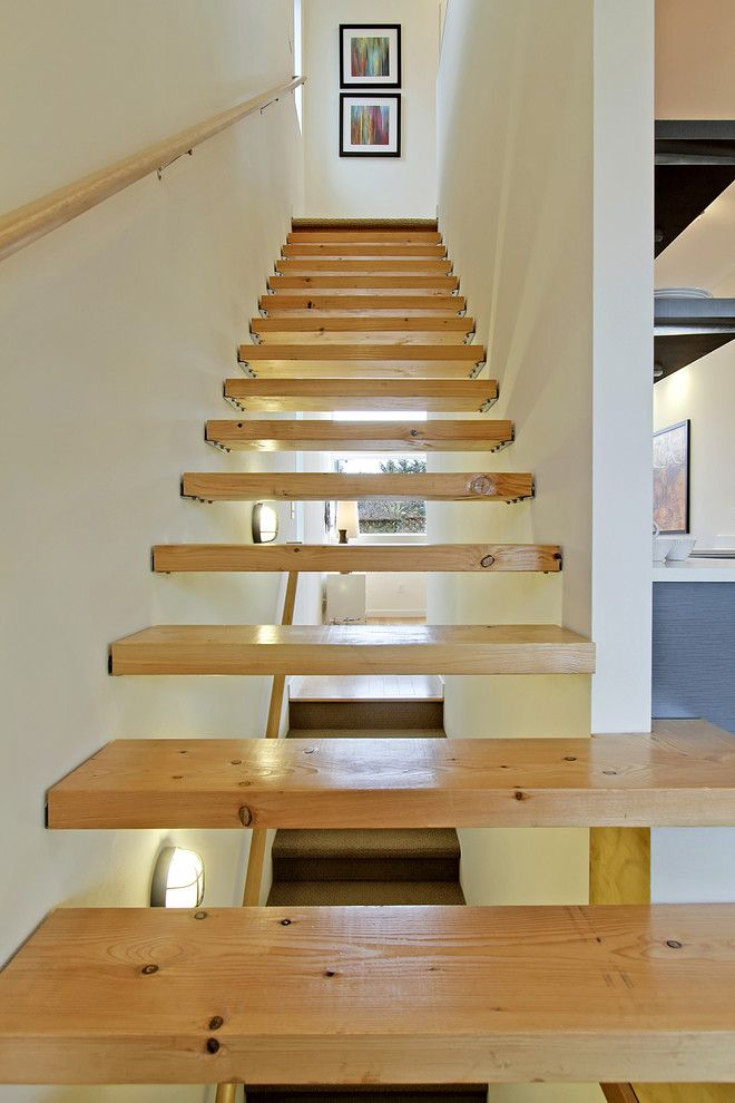 Habitat for Humanity Seattle for a Contemporary Staircase with a Hardwood and Gibson Girls by Green Canopy Homes