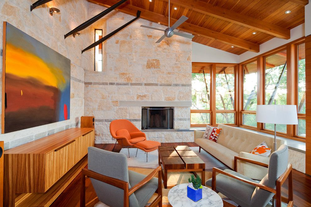 Hanks Fine Furniture for a Contemporary Family Room with a Area Rug and Barton Creek by Fine Focus Photography