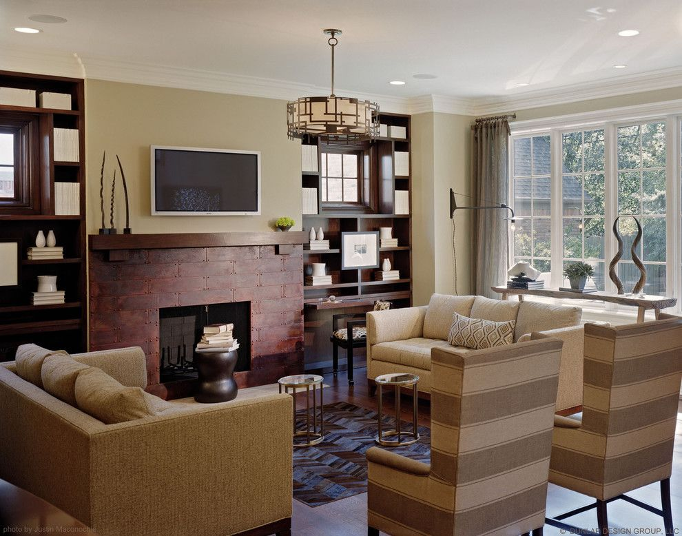 Hanks Fine Furniture for a Traditional Family Room with a Monochromatic and Birmingham Showhouse by Dunlap Design Group, Llc