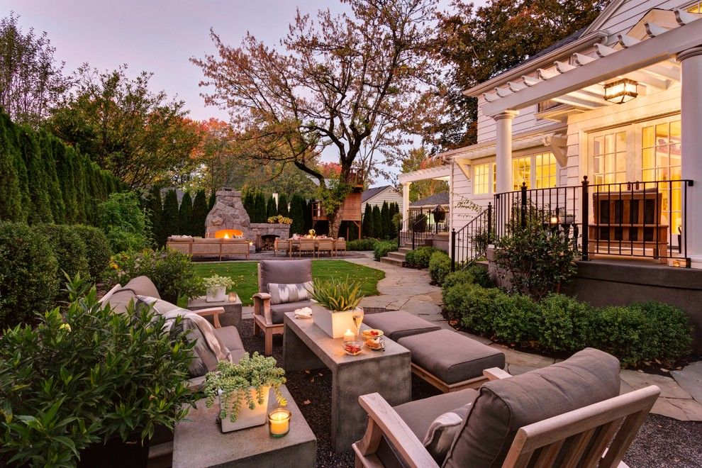 Hanks Fine Furniture for a Traditional Landscape with a Walkway and Vista Residence by Shapiro Didway