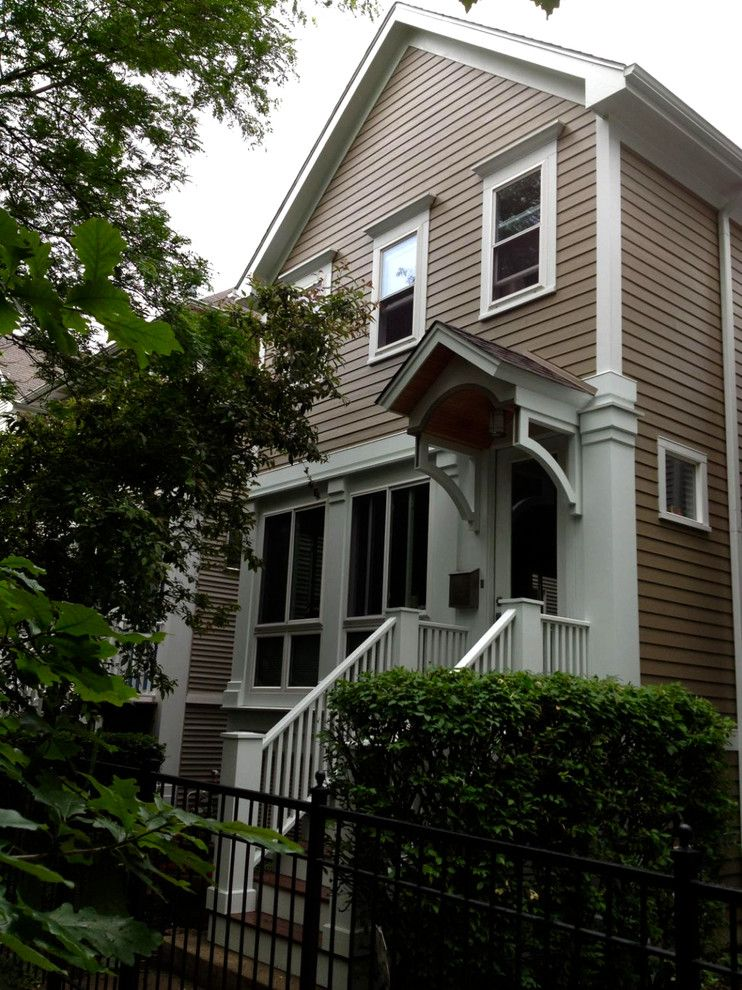 Hardie Trim for a Victorian Exterior with a White Window Trim and Victorian Style Home   Chicago, Il in James Hardie Siding & Trim by Siding & Windows Group Ltd