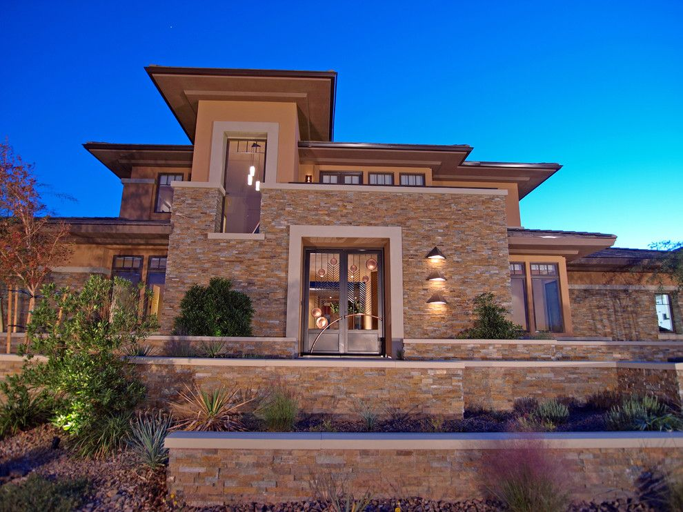 Harmony Homes Las Vegas for a Contemporary Exterior with a Southwestern Landscape and Custom Home #1 by Marteen Moore Interior Planning