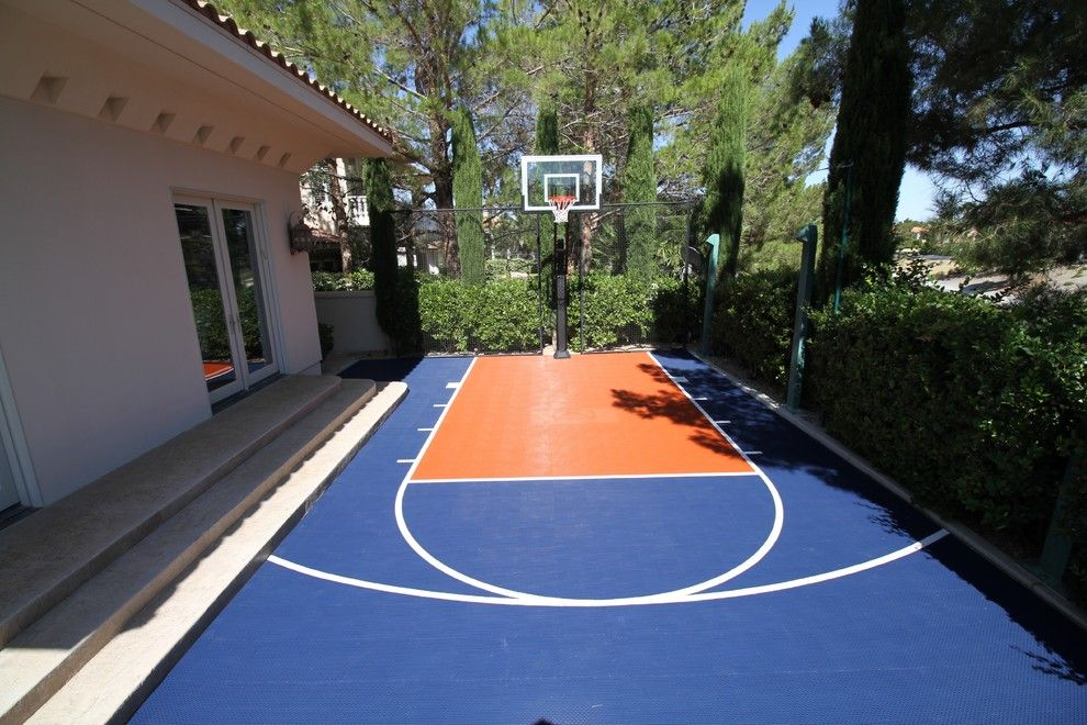 Harmony Homes Las Vegas for a Contemporary Landscape with a Las Vegas Game Court and Snapsports Las Vegas Backyard Basketball Court by Snapsports of Las Vegas/vegas Game Courts