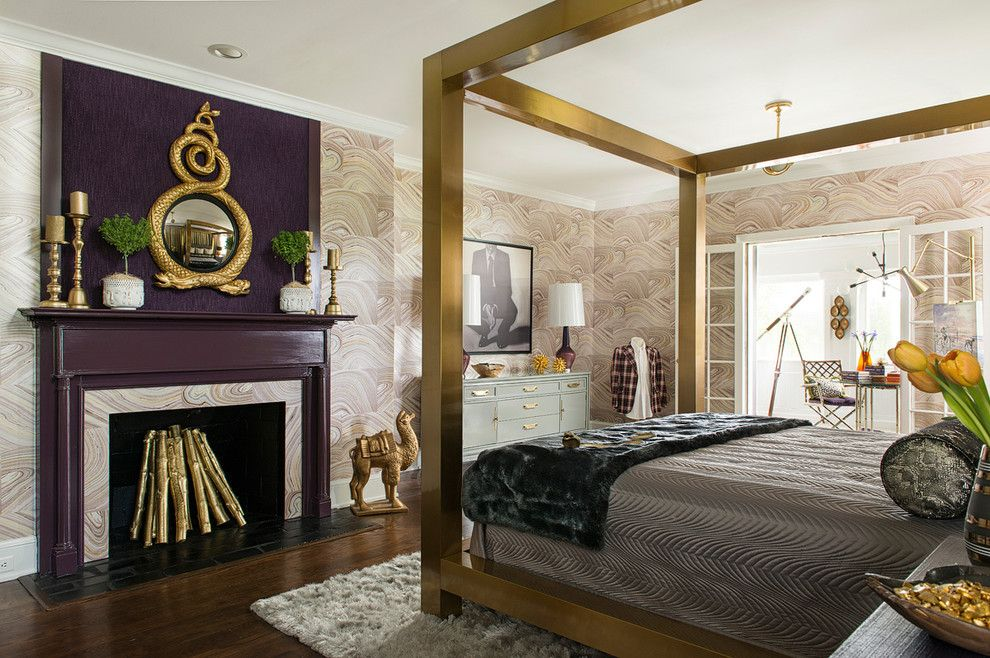 Harrisburg Symphony for a Modern Bedroom with a Beacon Hill and Harrisburg Symphony Showhouse Mbr by Karen Viscito Interiors