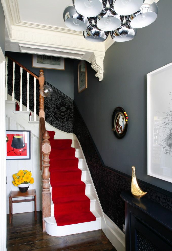 Havenly for a Eclectic Staircase with a Carpet Runner and Victorian House S. East London by Alison Hammond Photography