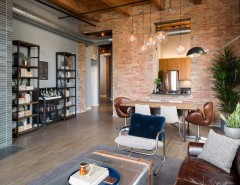 Havenly for a Industrial Living Room with a Gray Floors and River North Loft by Haven Design Studio