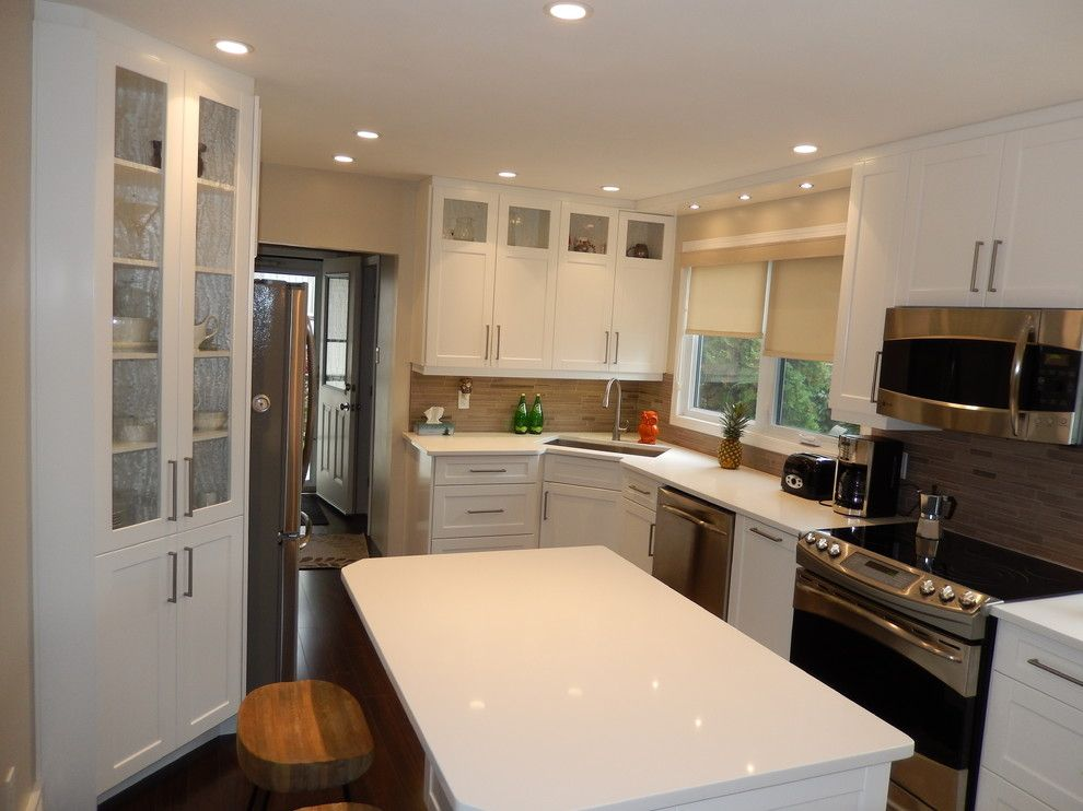 Hawthorne Appliances for a Transitional Kitchen with a White Kitchen and Transitional   White Lacquer by Hawthorne Kitchens