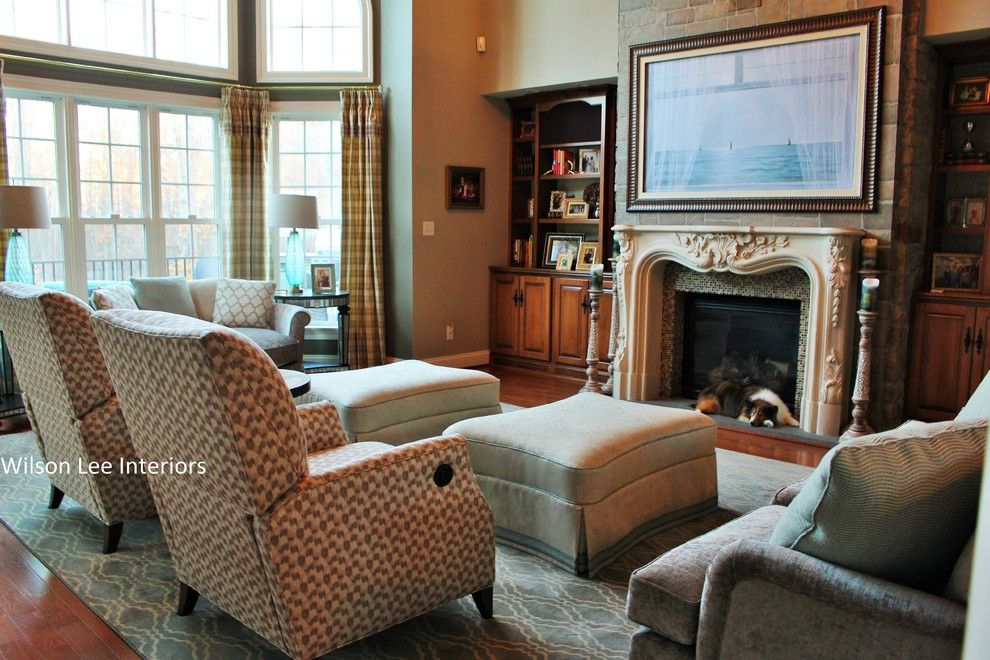 Haynes Furniture Richmond Va for a Contemporary Living Room with a Small Recliner Chairs and Modern Home Design (Midlothian, Va) by Wilson Lee Interiors