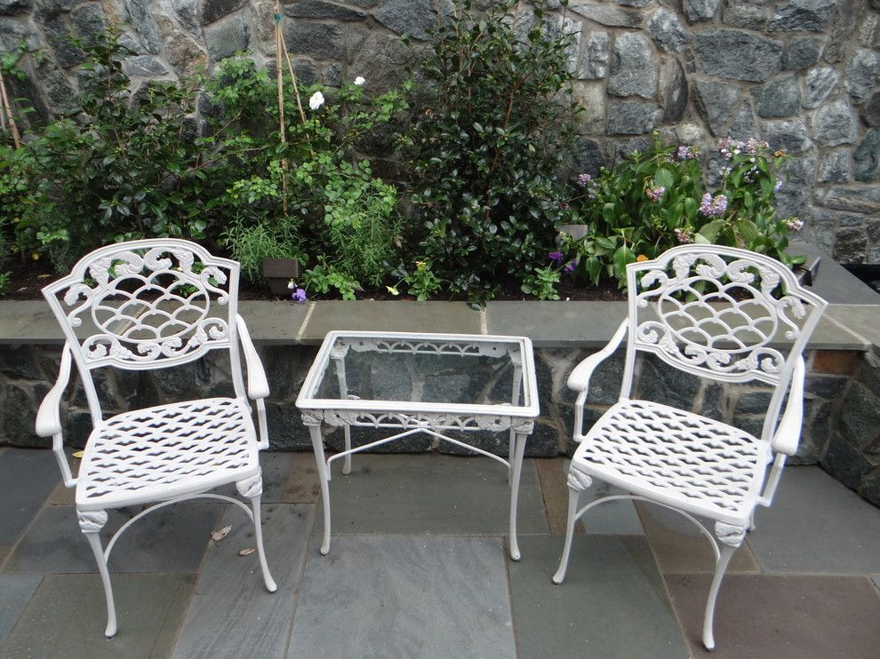 Haynes Furniture Richmond Va for a Modern Landscape with a Outdoor and Outdoor Furniture on Flagstone Patio by Campbell & Ferrara