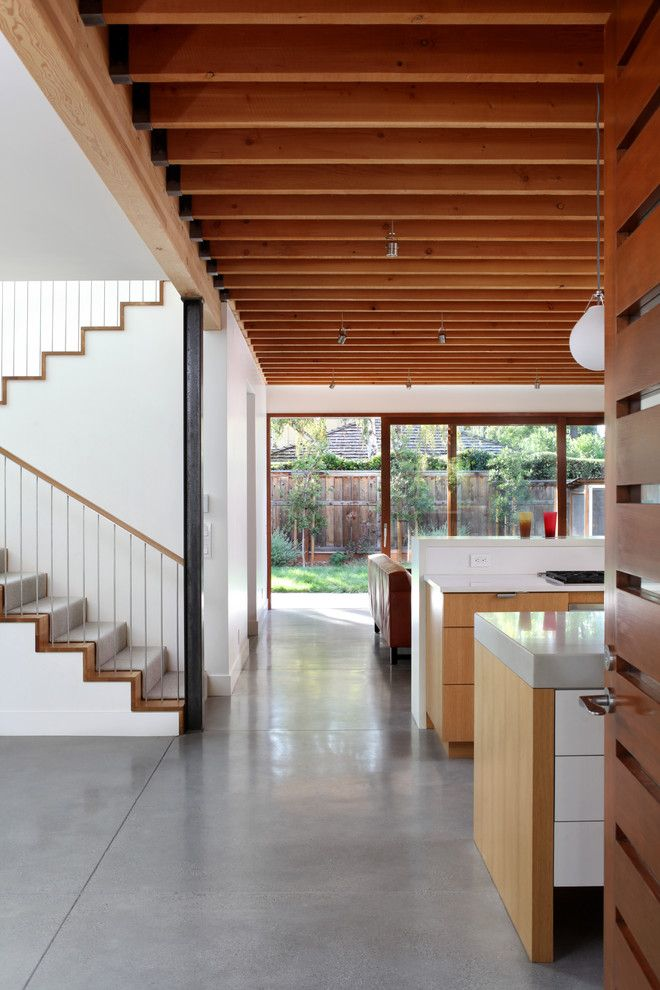H&c Concrete Stain for a Contemporary Hall with a Contemporary and Palo Alto Residence by Arcanum Architecture