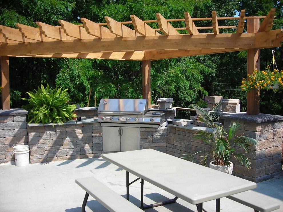 Hearth and Grill for a Traditional Patio with a Cultured Stone and Outdoor Kitchens by Lanchester Grill & Hearth
