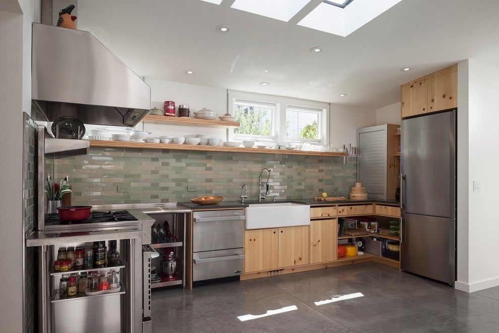 Heath Ceramics for a Contemporary Kitchen with a Bunker and Shotwell Residence by Matarozzi Pelsinger Builders