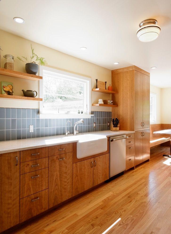 Heath Ceramics for a Contemporary Kitchen with a Kitchen Remodel and Contemporary Kitchen by Icestoneusa.com
