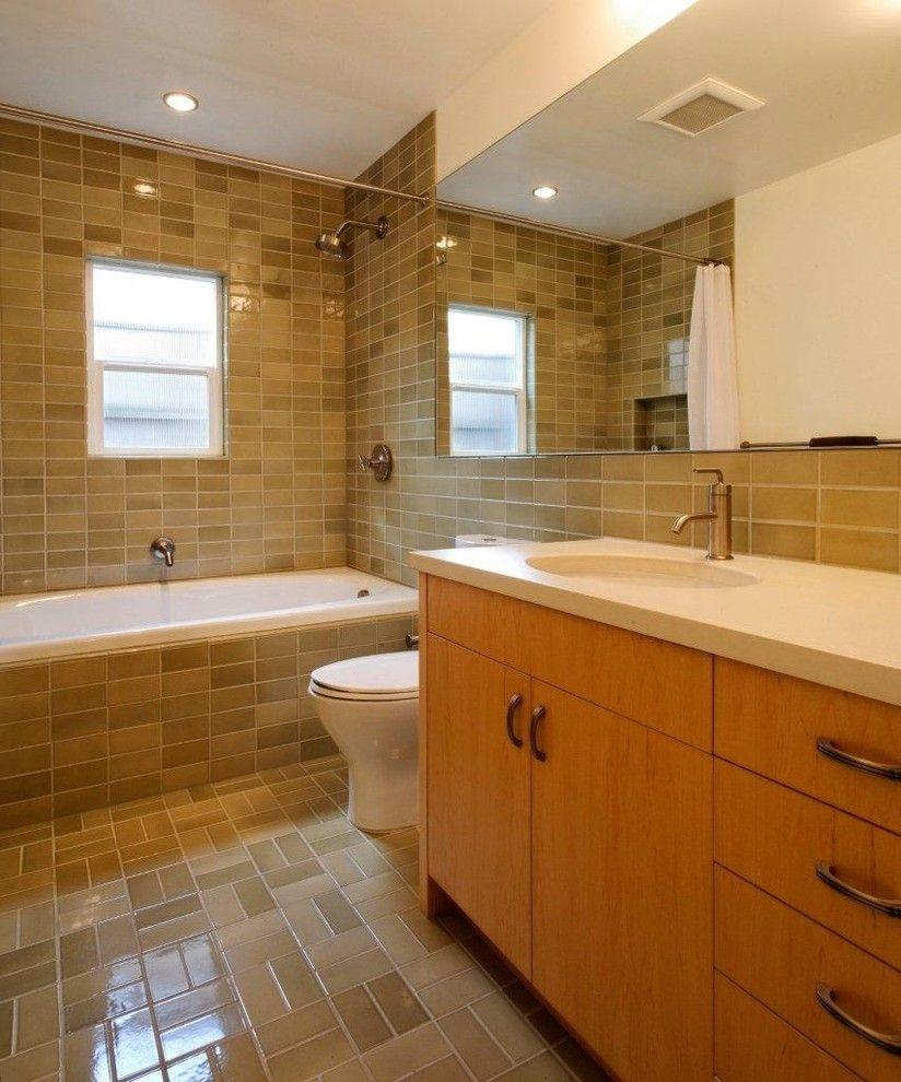 Heath Ceramics for a Modern Bathroom with a Heath and Concordia Bathroom by Howells Architecture + Design, Llc