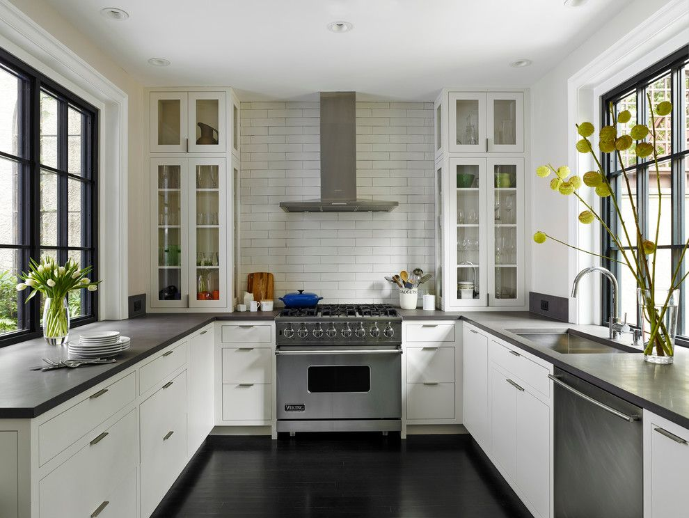 Heath Ceramics for a Transitional Kitchen with a Inset Cabinets and A. Delancey Place Renovation by Hanson Fine Building