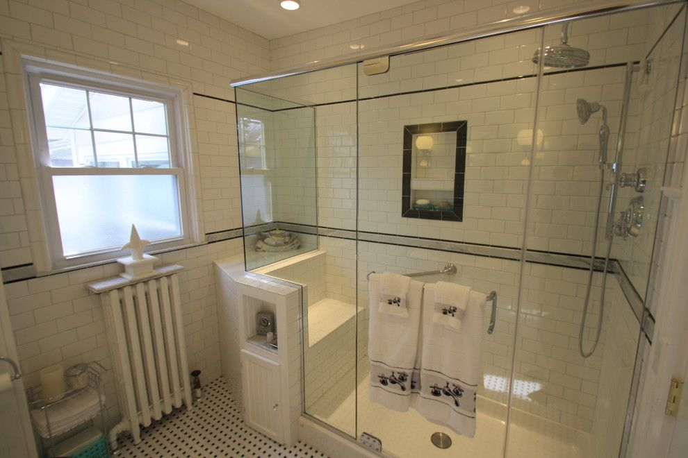 Helping Hands Richmond for a Eclectic Bathroom with a Eclectic and Newly Expanded Bathroom by Bennett Contracting, Inc.
