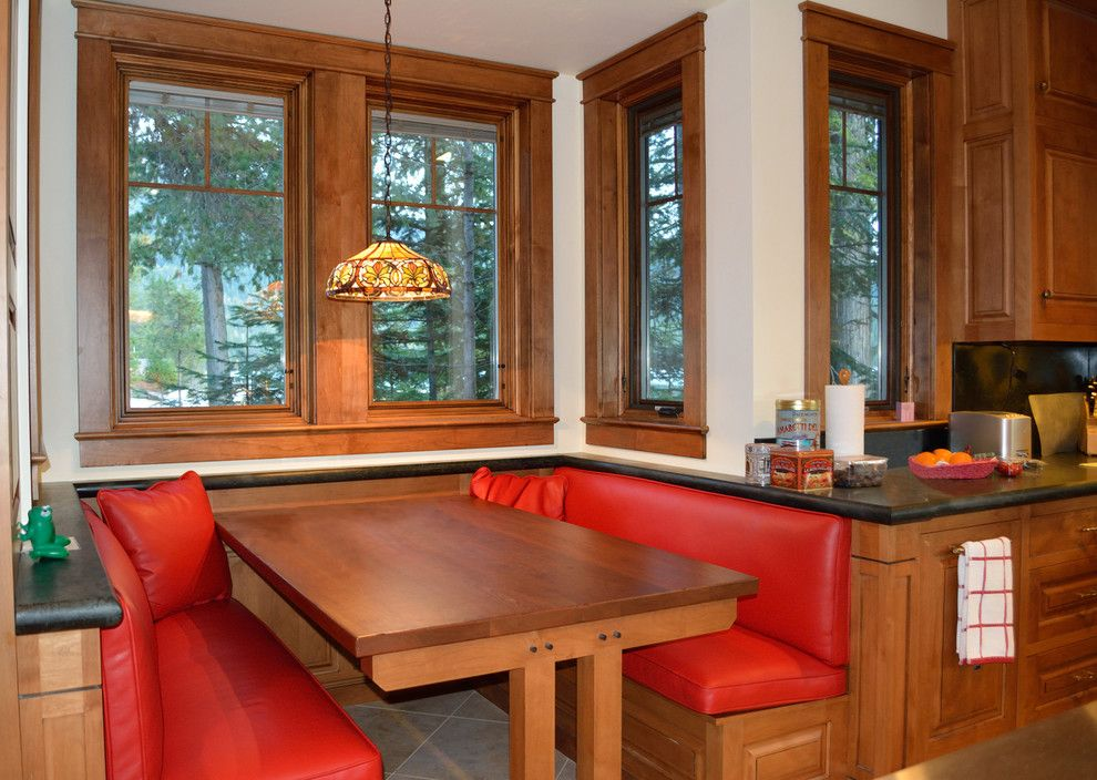 Hendrick House for a Craftsman Kitchen with a Breakfast Area and Priest Lake Waterfront Home by Hendricks Architecture