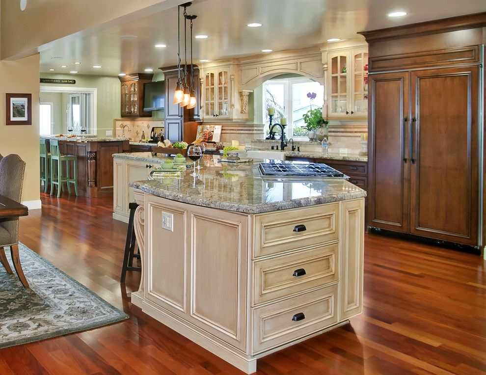 Hendrick House for a Mediterranean Kitchen with a Kelly Hendricks and Tuscany Style Kitchen/great Room by Gourmet Galleys & Loos | Kitchen and Bath Design