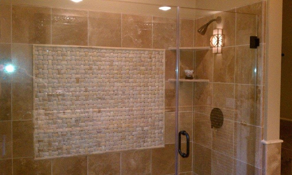 Henle for a Mediterranean Bathroom with a Mediterranean and Mediterranean Bathroom Project by Henle Construction, Inc.