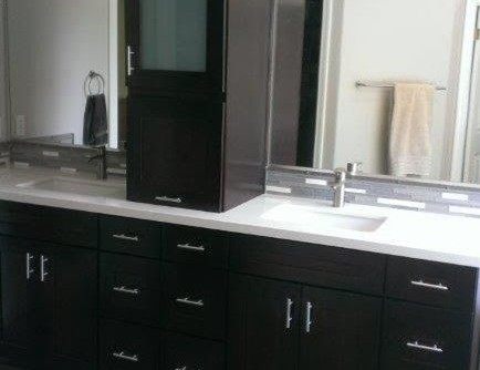 Henle for a Transitional Bathroom with a Transitional and Variety of Custom Bathroom Projects by Henle Construction, Inc.