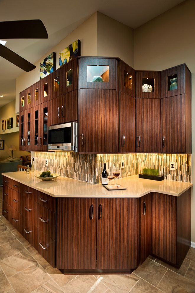 Hgtv Designers for a Transitional Kitchen with a Glass Splash Back and Contemporary Designs by Kitchen and Bath World, Inc
