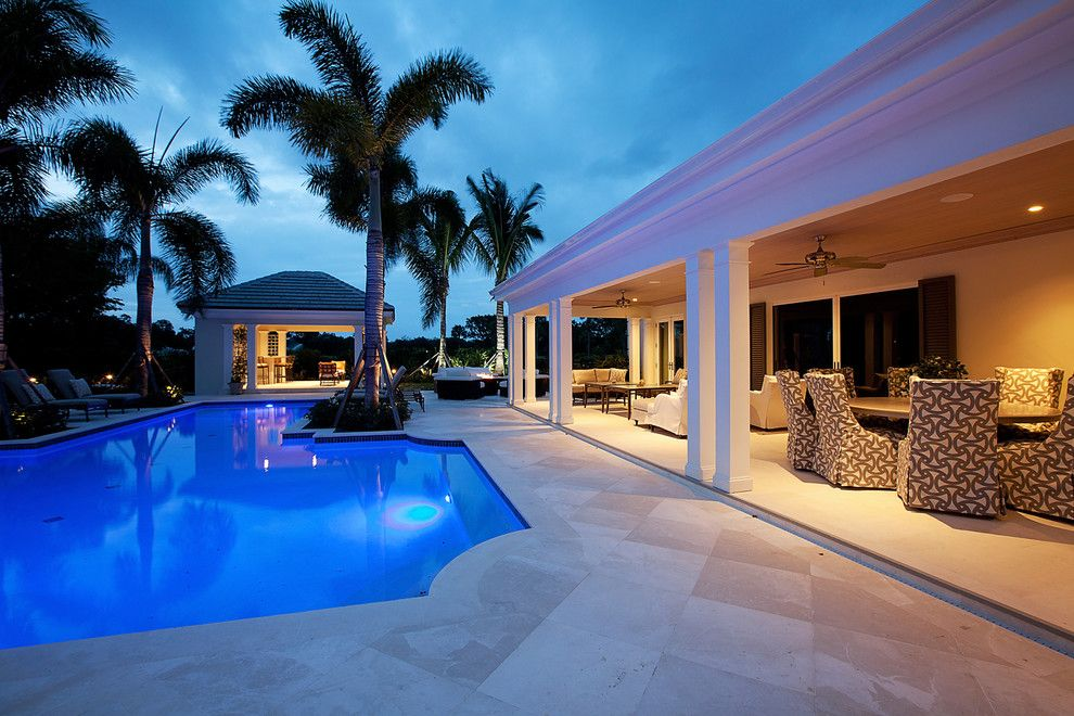 Hibachi Grill Miami for a Traditional Pool with a Bermuda Roof and Estate Home by Mouw Associates, Inc